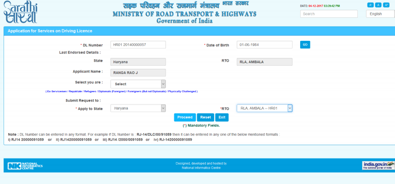 driving licence address change