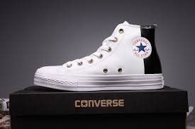 exclusive converse white black leather