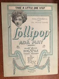 Amazon.com: TAKE A LITTLE ONE STEP (Vincent Youmans 1923 SHEET MUSIC) from  the show LOLLIPOP with Ada May (pictured): Entertainment Collectibles