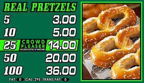 philly pretzel factory menu pretzels