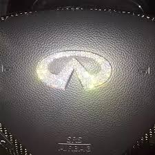 Infiniti Bling Emblem For Steering Wheel Logo Sticker Decal Carsoda