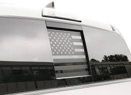 Amazon Com Usa Flag Decal For 2016 2020 Toyota Tacoma Rear Slider Window Custom Design Rw1 Mw2 A Handmade