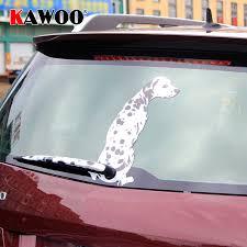 Kawoo Funny Cartoon Car Stickers Dalmatian Dog Moving Tail Stickers Rear Windshield Window Wiper Decor Sticker Car Styling Car Stickers Aliexpress