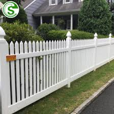 China Manufacturers Industry White Pvc Fence Lawn White Picket Fence Garden Edging China Pvc Fence Panels And White Vinyl Picket Fence Price