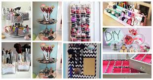 easy diy makeup storage ideas that you