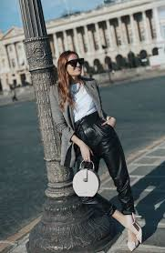 15 ideas to wear leather pants in 2020