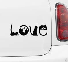 The Decal Store Com By Yadda Yadda Design Co Car Cats Spell Love Car Vinyl Decal Sticker C Yydc 6 W X 2 H