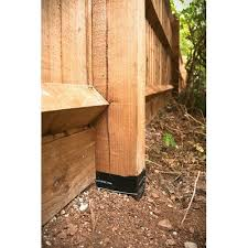 Fence Post Groundline Barrier Sleeve Set Of 5 Postsaver In 2020 Wood Fence Fence Fence Post