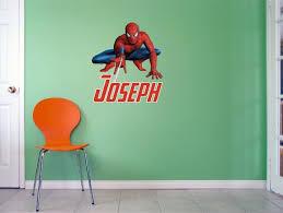 Spiderman Wall Decal Boy Nursery Wall Decal Spiderman Wall Etsy