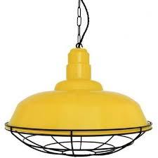 yellow metal ceiling pendant light