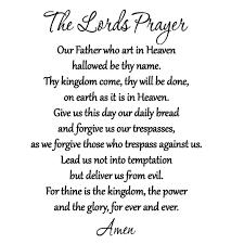 Vwaq The Lord S Prayer Bible Wall Decal Our Father Vinyl Wall Art Scripture Quote Faith Home Christian Decor Stickers Walmart Com Walmart Com