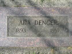 Ada Cook Dencer (1893-1957) - Find A Grave Memorial