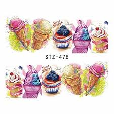 Water Slide Decals Ice Cream Stz 478 Vibrant Vinyls