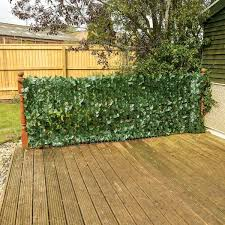 3m Artificial Hedge Roll Privacy Screening Trellis Fence Ivy Leaf Green Hedging Ebay