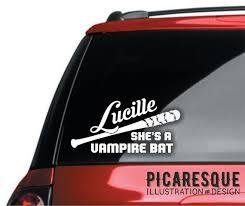 Negan Lucille Vampire Bat Vinyl Decal The Walking Dead Etsy