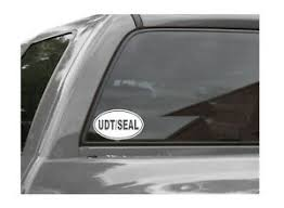 Udt Seal Euro Oval Vinyl Window Decal U S Navy Ebay