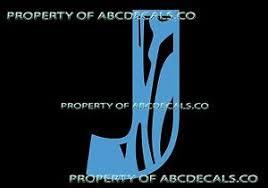 Vrs Custom Name Monogram Zebra Print Initial Letter J Car Decal Vinyl Sticker Ebay