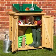 wooden garden storage box b q