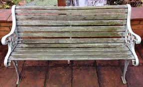 vintage garden bench makeover and a