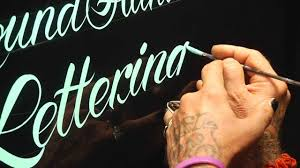 roundhand lettering demo by glen