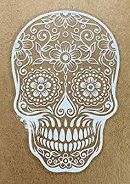 Buy Osmdecals Sugar Skull Sticker Decal Version 79 Day Of The Dead Vinyl Wall Home Decor Car Window Bumper Decal Sticker 3 Sizes Available In The Same Price In