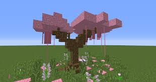 Sakura Tree Using Pink Concrete Powder Minecraft
