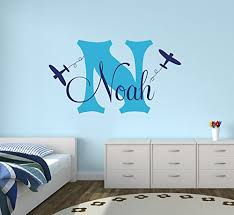 Amazon Com Personalized Airplanes Name Wall Decal Boys Kids Room Decor Nursery Wall Decals Airplanes Wall Decors Baby