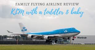 klm transatlantic flight with a toddler