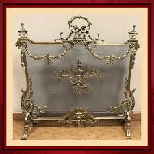 vintage french country fireplace screen