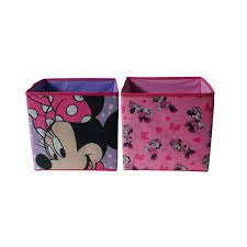 Disney S Minnie Mouse 2 Pack Storage Toy Cube
