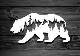 Bear Decal Car Decals Mountain Stickers Laptop Decal Etsy Bear Decal Mountain Decal Car Decals Vinyl