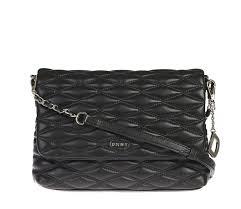 women dkny quilted leather shoulder bag