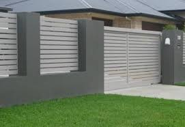 54 The Best Fence Design Ideas That You Can Try Garden And Outdoor Modern Fence Design Fence Design Brick Fence