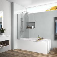 bi fold bath tub shower door swing