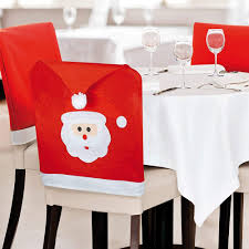 eBuyGB Red and White Hat Christmas Chair Covers (Pack of 6 Santa Face):  Amazon.co.uk: Kitchen & Home