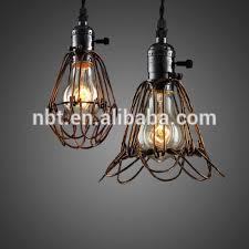 modern industrial black metal lamp cage