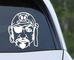 Pirate Head Ver K Die Cut Vinyl Decal Sticker Decals City