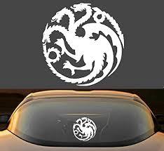 Amazon Com 6 Game Of Thrones House Targaryen Sigil Car Window Laptop Vinyl Decal Sticker Handmade
