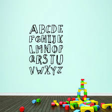 Alphabet Wall Decal Abc S Wall Art Sweetums Signatures