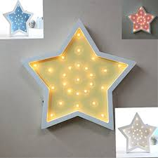 Nursery Decorative Wooden Marquee Led Lights By Licheng Bridal Wooden Led Table Lamps Wall Mounted Lights For Kids Room Holiday Decor Gifts Stars Pack Of 4 Kitchen Dining B0751b8d5x