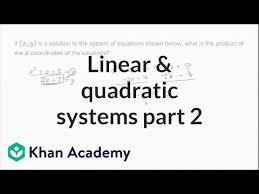 linear and quadratic systems sat