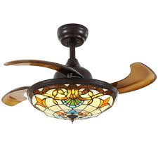 ceiling fan with light and retractable