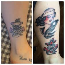 Before And After Traditional Tattoo Timmy Tarts State College Pa