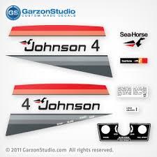 1977 Johnson 4 Hp Decal Set Garzonstudio Com