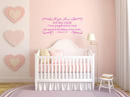 For This Child I Have Prayed And The Lord Has Granted The Desires Of My Heart 1 Samuel 1 27 Personalized Vinyl Wall Decal