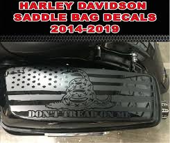2014 2020 Harley Davidson Dont Tread On Me American Flag Decals Includes Road King Road Glide Street Glide And Classic And Ultra Limited Models 2014 2015 2016 2017 2018 2019 24 99 44 99 Country Boy Customs Store