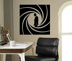 Amazon Com James Bond Movie Wall Decal Film Agent 007 Vinyl Sticker Home Decor Ideas Room Interior Wall Art 7 Bon Home Kitchen