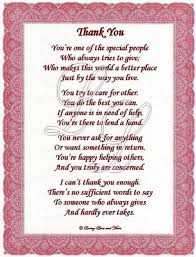 poetry gratitude thank you poem is for that exceptional person