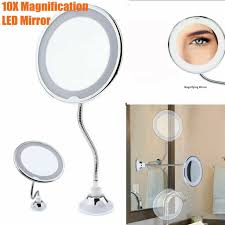 7x magnifying lighted makeup mirror led