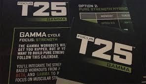focus t25 gamma workout smart fitness